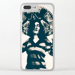 Mexican Charra - Mex Flag Clear iPhone Case