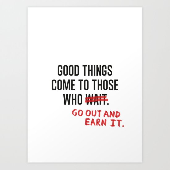 Good Things (Clean version) Art Print