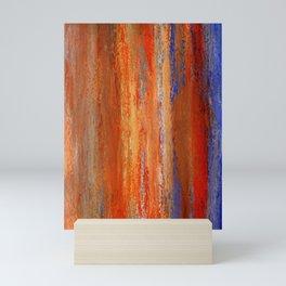 Abstract Orange and Blue 1 Mini Art Print