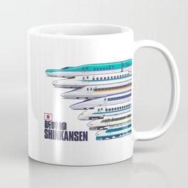 Shinkansen Bullet Train Evolution - White Coffee Mug