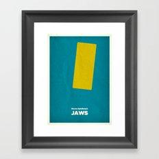 Steven Spielberg's JAWS Framed Art Print