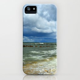Waves at Whitefish Point iPhone Case