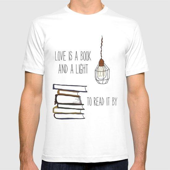 Love Is A Book T-shirt