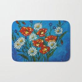Bright Flowers Bath Mat