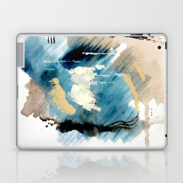 You are an Ocean - abstract India Ink & Acrylic in blue, gray, brown, black and white Laptop & iPad Skin
