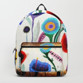Grungy retro floral burned dusted still life Backpack