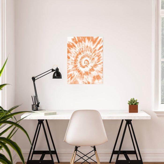 Light Orange Tie Dye Poster