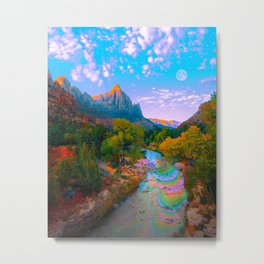 Flowing With The River Metal Print