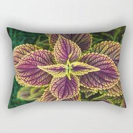 Plant Patterns - Coleus Colors Rectangular Pillow