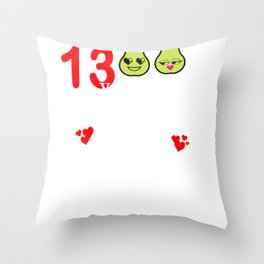 13 Years Great Pear Thirteenth Anniversary product Throw Pillow