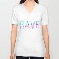 rave V-neck T-shirts featuring Rave  by Illuminany