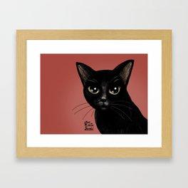 Black in red Framed Art Print