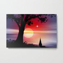 Roter Horizont. Metal Print