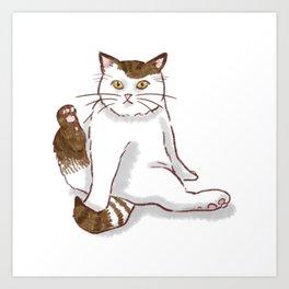 Sporty cat Art Print