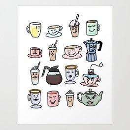 Cafe Friends Art Print
