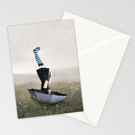Umbrella melancholy Stationery Cards