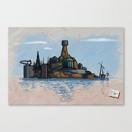 Use Verb on Noun #9: Myst Canvas Print