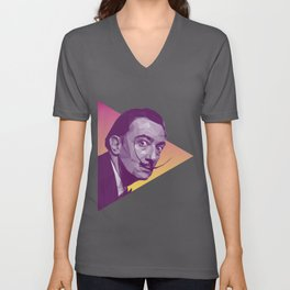 Salvador Dali Low Poly Collection Unisex V-Neck