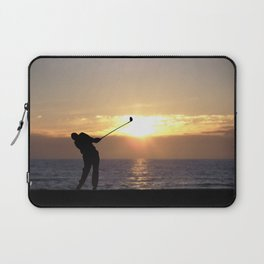 Playing Golf At Sunset Laptop Sleeve