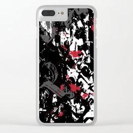 black sensation Clear iPhone Case
