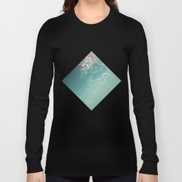Fresh summer abstract background. Connecting dots, lens flare Long Sleeve T-shirt