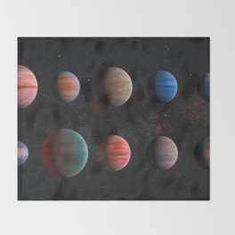 Planets : Hot Jupiter Exoplanets Throw Blanket