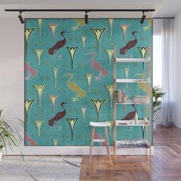 Ibis&Lotus Wall Mural