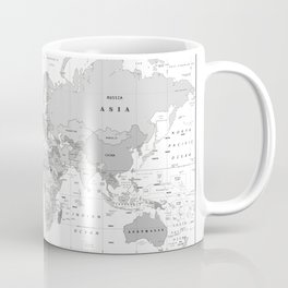 World Map [Black and White] Coffee Mug