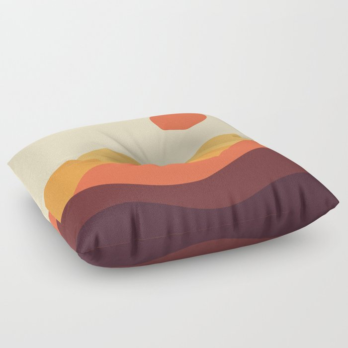 Geometric Landscape 21 Floor Pillow