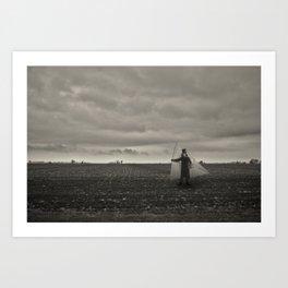 I'll sail along this sky Art Print