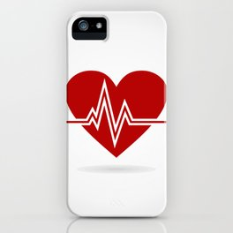 Heart life iPhone Case