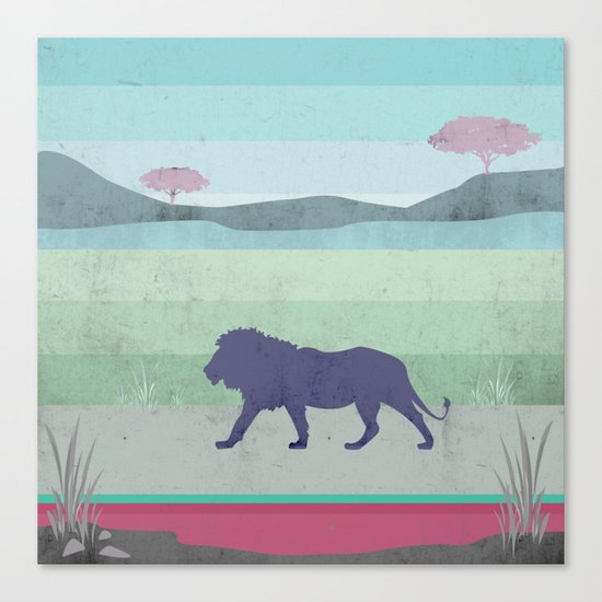Lions are big kitties  Canvas Print