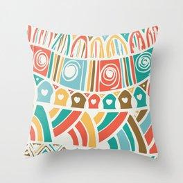 Carnival fun pattern Throw Pillow