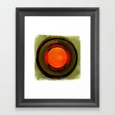 big red button Framed Art Print