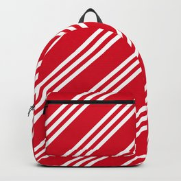 Red and White Large Small Small Stripes Backpack