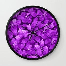 watercolor Botanical garden IV Wall Clock