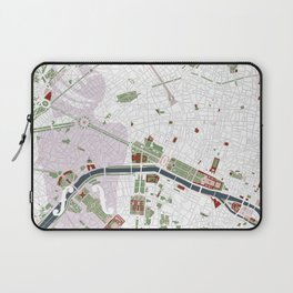 Paris city map minimal Laptop Sleeve