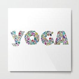 YOGA Figure Poses Metal Print