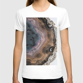 Multi-colored Agate slice T-shirt