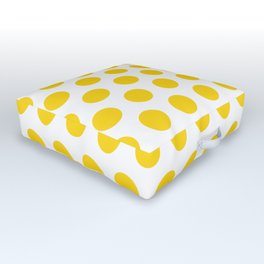 Yellow and White Polka Dots 771 Outdoor Floor Cushion