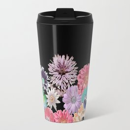 Pink Rose Floral Travel Mug
