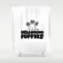 Hellhound puppies Shower Curtain