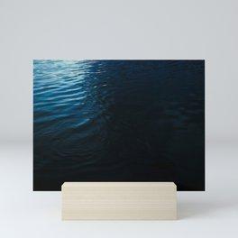 Lake Surface at Dusk Mini Art Print