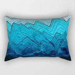 A rough winter's sea Rectangular Pillow