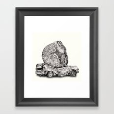An Inelegant Armadillo Framed Art Print
