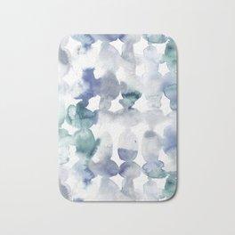 Dye Ovals Blue Green Grey Bath Mat