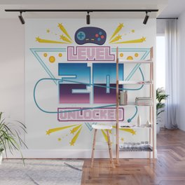 Level Up Typical Gamer Gaming Nerdy 20 Player Gift Wall Mural
