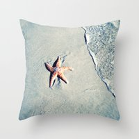 starfish Throw Pillows featuring Starfish  by Bree Madden