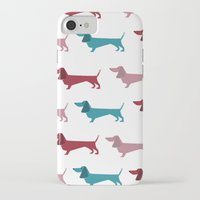 dachshund iPhone & iPod Cases featuring Dachshund by PaperDog