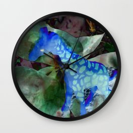 Why So Blue, Giraffe? Wall Clock